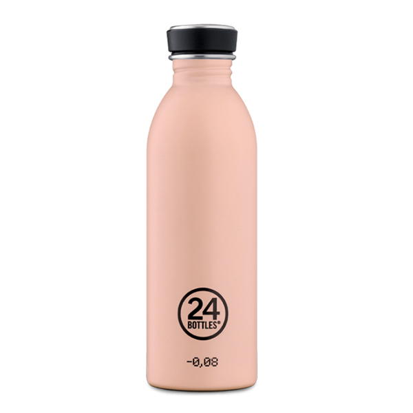 butilka nerajdaema stomana 500 ml Dusty Pink 24bottles