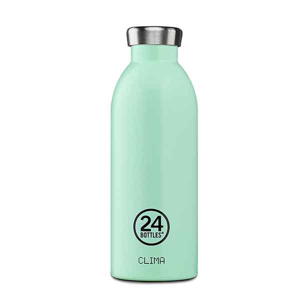 24bottles2 thermal stainless steel clima bottle 500 ml aqua green thermos bottles