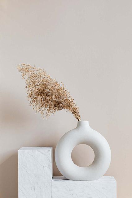 Scandinavian minimal home decoration white vase