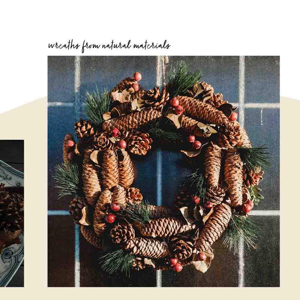 Christmas wreath eco decoration