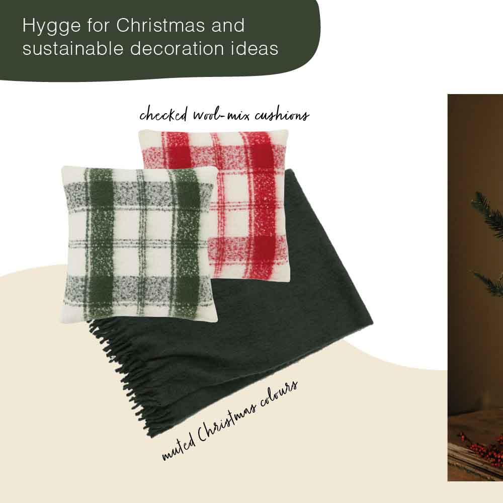 Hygge christmas decoration throw pillows