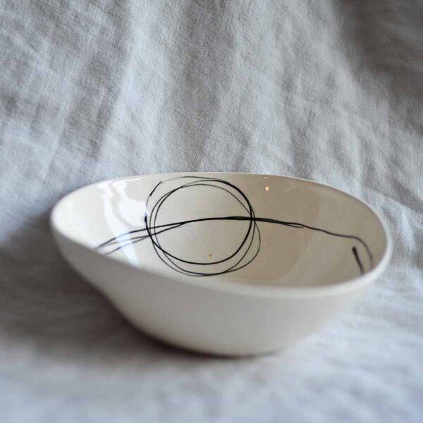 Porcelanova kupa grafichna circle 400 ml