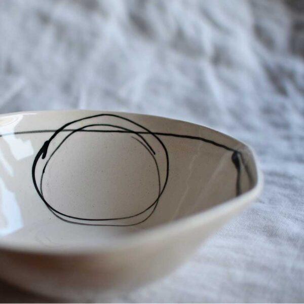 Porcelanova kupa grafichna circle6 400 ml