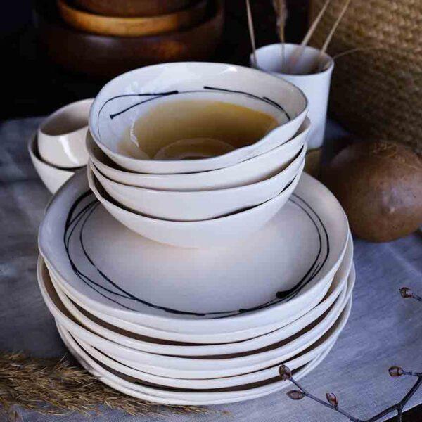 Porcelanovi rachno izraboteni sadove