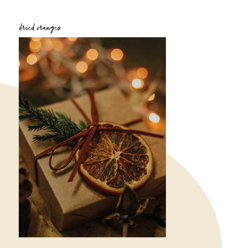 christmas decoration dried oranges