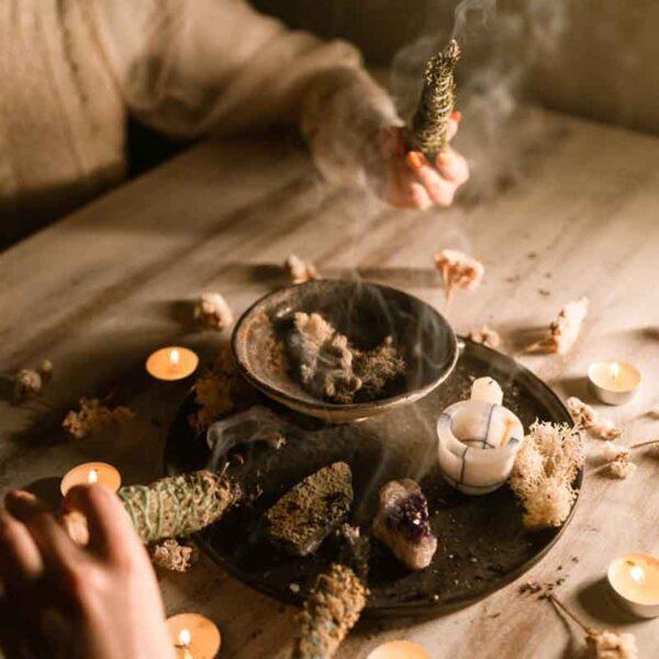 white sage salvia sandalwood rituals