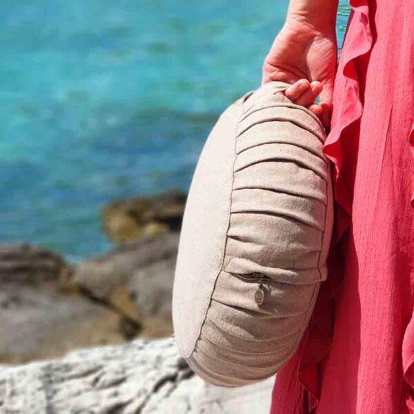 Meditation wool pillow1 round