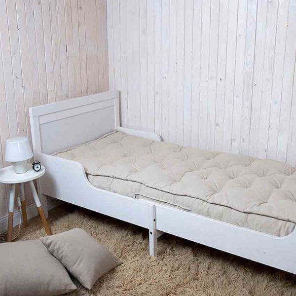 Wool all natural rolled up shikibuton mattress with straps 13сm