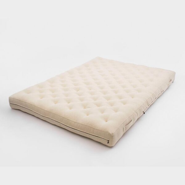 Wool all natural rolled up shikibuton mattress with straps 13 sm