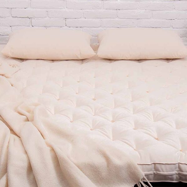 Wool all natural rolled up shikibuton mattress with straps