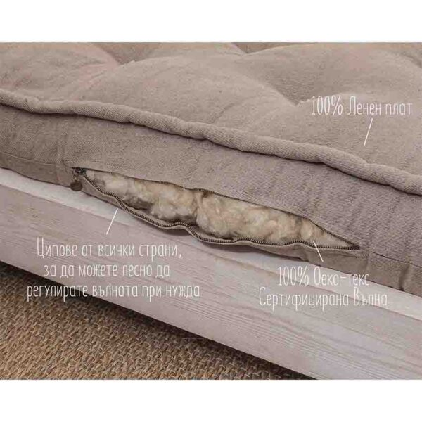 all natural rolled up shikibuton mattress with straps 18 cm