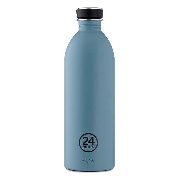 butilka nerajdaema stomana 1000 ml Powder Blue 24bottles