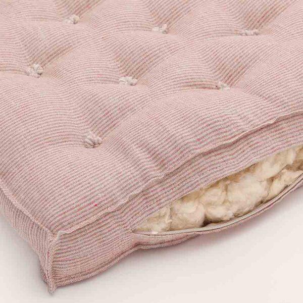 home of wool crib mattress thin red stripe 2