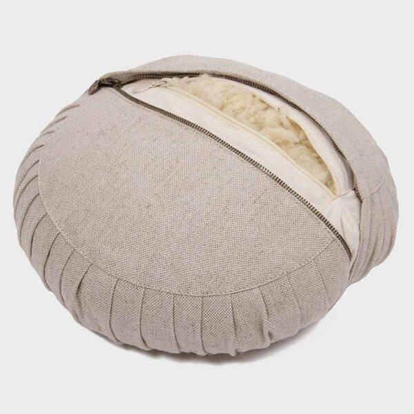meditation pillow wool filling round2