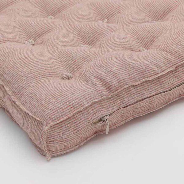 wool crib mattress thin red stripe 1