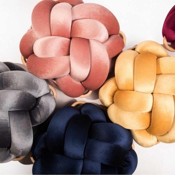 knot pouf velvet collection mohoknots