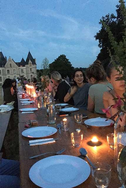 Domaine de Boisbuchet dinner