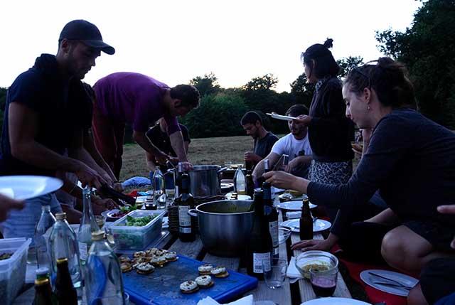 Domaine de Boisbuchet lake dinner