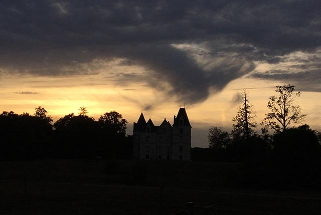 Domaine de Boisbuchet sunset