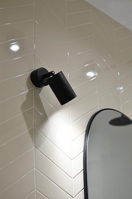 chevron tiles pattern bathroom beige 01