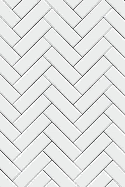 pattern with modern rectangular herringbone white tiles