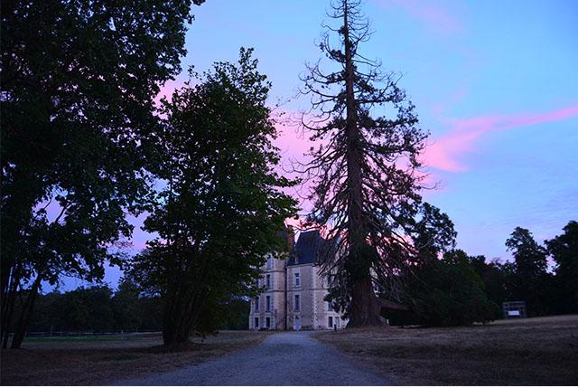 sunset Boisbuchet castle